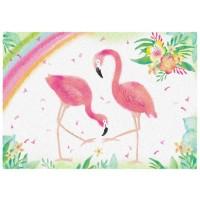 Fußmatte Flamingo Love