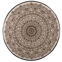 Fußmatte Medallion Nougat rund