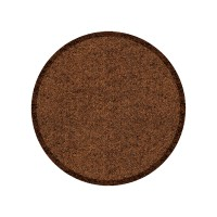 Fußmatte Clean Keeper dunkelbraun rund XL