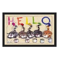Fußmatte Deco & Wash Künstlerkatzen