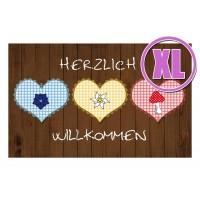 Fußmatte Gallery Herzlich Willkommen XL