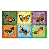 Fußmatte Gallery Schmetterlinge Mosaik