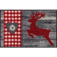Fußmatte Hirsch Alpin rot