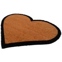 Fußmatte Kokos Herz Beige