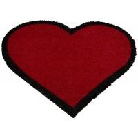 Fußmatte Kokos Herz Rot