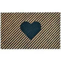 Fußmatte Kokos Streifen Herz