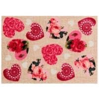 Fußmatte Look Blooming Hearts