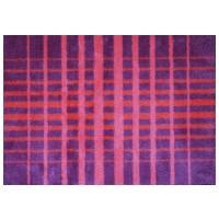 Fußmatte Mikrofaser Grid Pink