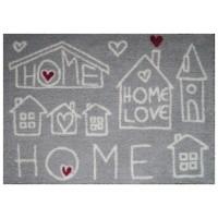 Fußmatte Mikrofaser Home Heart Stone