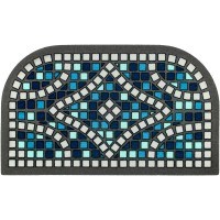 Fußmatte Mosaik blau
