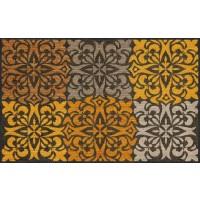 Fußmatte Ornament Tiles gold XL