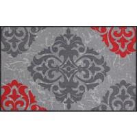 Fußmatte Ornamentweg grau rot XL
