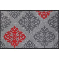Fußmatte Ornamentweg grau rot XXXL