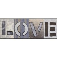 Fußmatte Salonloewe Love Squares XXL