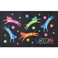 Fußmatte Jumping Cats Welcome XL