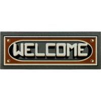Fußmatte Welcome 3D braun