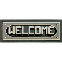 Fußmatte Welcome 3D grau