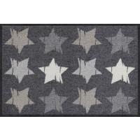 Fußmatte Wood Stars Grey