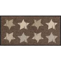 Fußmatte Wood Stars Nougat 30 cm x 60 cm