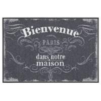 Fußmatte Salonloewe Design Bienvenue Vintage Grise