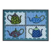 Fußmatte Salonloewe Eva Maria Nitsche Blue Teapots 50cm x 75cm