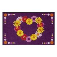 Fußmatte Salonloewe Design Blütenherz