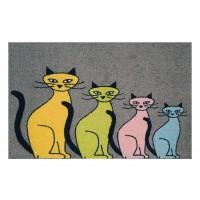 Fußmatte Clean Keeper vier Katzen