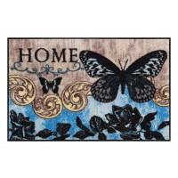 Fußmatte Salonloewe Design Papillon Bleu 50cm x 75cm