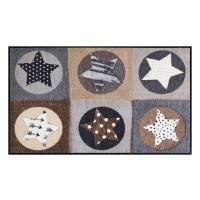 Fußmatte Salonloewe Stars Karo nature XL
