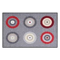 Fußmatte Salonloewe Target Grey Red