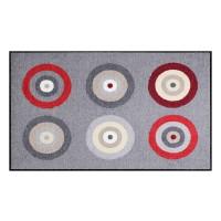 Fußmatte Salonloewe Target Grey Red XXL