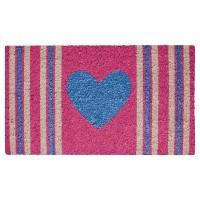 Fussmatte Stripes Heart