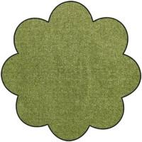 Fußmatte Salonloewe Uni olivgrün Blume