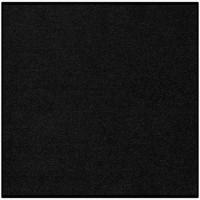Fußmatte Uni schwarz quadratisch