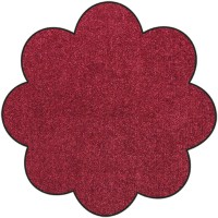 Fußmatte Salonloewe Uni weinrot Blume