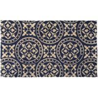Kokosfußmatte Cocoprint Renaissance blau