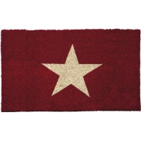 Kokosfußmatte Cocoprint Stern rot