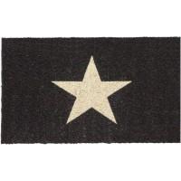 Kokosfußmatte Cocoprint Stern schwarz