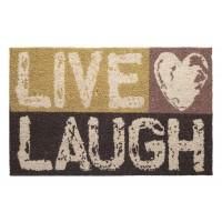 Kokosfußmatte Cocoprint Colori Live Laugh