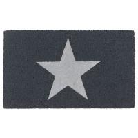 Kokosfußmatte Ruco Glitter Star silber