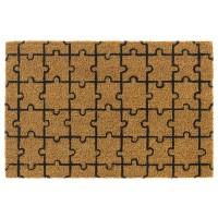 Kokosfußmatte Ruco Print natural puzzle