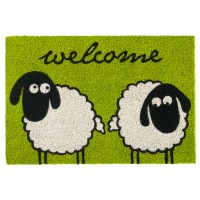 Kokosfußmatte Ruco Print Sheeps Welcome