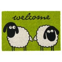 Kokosfußmatte Ruco Print Sheeps Welcome