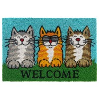 Kokosfußmatte Ruco Print Welcome Cats