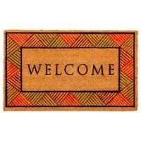 Kokosfußmatte Welcome Raute