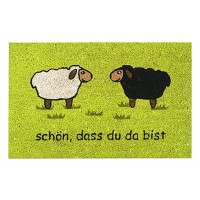 Kokosfußmatte zwei Schafe