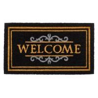 Kokosfußmatte Ruco Classic Welcome black