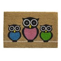 Kokosfußmatte Ruco Print owls