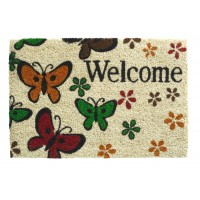 Kokosfußmatte Ruco Print welcome butterfly