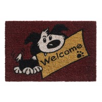 Kokosfußmatte Ruco Print welcome dog